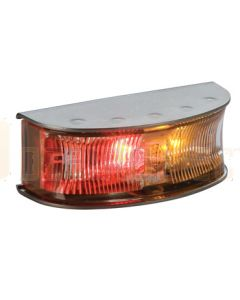 Hella 2058 LED Side Marker Red / Amber Illuminated, Satin S/S Housing