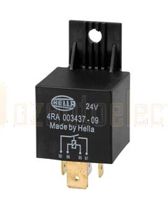 Hella 3085 High Capacity Normally Open Relay - 4 Pin, 24V DC