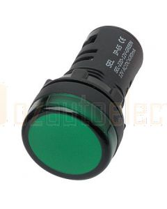 Hella Mining HM2717-24V LED Pilot Lamps, 24V - Green, Super Bright