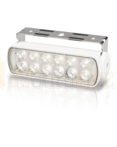 Hella Marine 2LT980670-211 LED Sea Hawk Floodlights (Bracket Mount) - Spot Light, White Housing