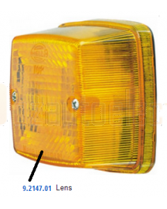 Hella Lens Amber to suit Hella 2147 (9.2147.01)