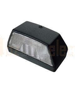 Hella Licence Plate Lamp - Black, 12V (2553)