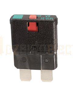 Hella Manual-Reset Circuit Breaker - 15A, 10-28V DC (8733)