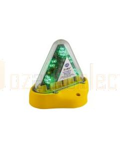 Hella Mining HM180GMAG MiniRAY LED Warning Beacon - Magnetic Mount, Green
