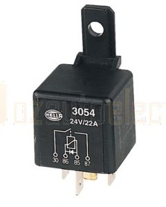 Hella Normally Open Relay with Diode - 4 Pin, 24V DC (3054)