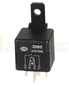 Hella Normally Open Relay with Diode - 4 Pin, 24V  DC (3060)
