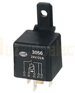 Hella 3056 Normally Open Relay with Diode - 5 Pin, 24V DC