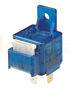 Hella 3076 Normally Open Relay with Inbuilt Fuse - 4Pin, 12V DC