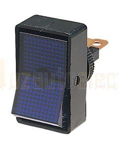 Hella Off-On Rocker Switch - Blue Illuminated, 12V (4443)