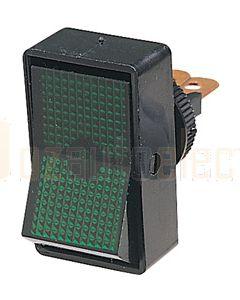 Hella Off-On Rocker Switch - Green Illuminated, 12V (4441)