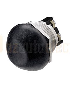 Hella Off-(On) Starter Push Button Switch - Spring Return, Black (4503)