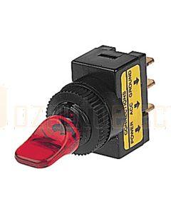Hella Off-On Toggle Switch - Red Illuminated, 12V (4421)