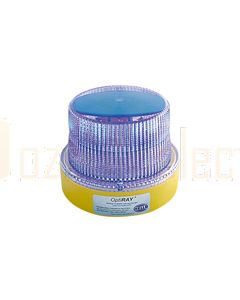Hella Mining HM360BMAG OptiRAY LED Warning Beacon - Magnetic Mount, Blue