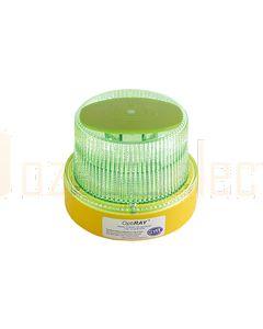 Hella Mining HM360GMAG OptiRAY LED Warning Beacon - Magnetic Mount, Green