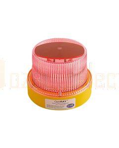 Hella Mining HM360RDIR OptiRAY LED Warning Beacon - Direct Mount, Red