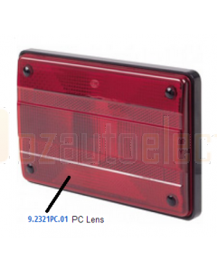 Hella PC Red Lens to suit Hella 2321PC & 2424PC (9.2321PC.01)