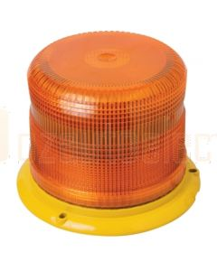 Hella Mining HME6750A PulseRAY E67 Heavy Duty Xenon Warning Beacon - 12/24V DC, Amber
