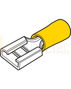 Hella 8503 Push-On Female Terminals - Yellow (Pack of 50)