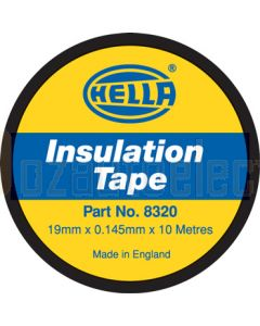 Hella PVC Electrical Insulation Tape - Black, 10m (8320)