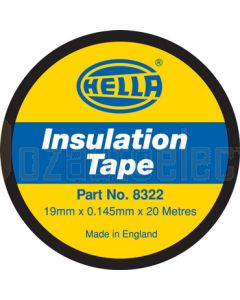 Hella PVC Electrical Insulation Tape - Black, 20m (8322)