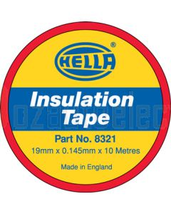 Hella PVC Electrical Insulation Tape - Red, 10m (8320)