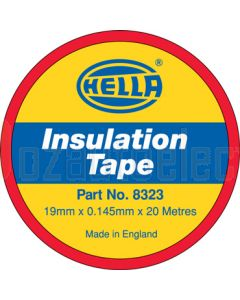 Hella PVC Electrical Insulation Tape - Red, 20m (8323)