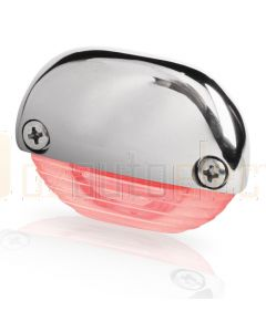 Hella Marine 2JA998560-251 Red LED Easy Fit Step Lamp - 12-24V DC, Polished Stainless Steel Cap