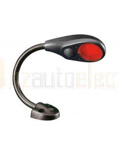 "Hella Marine 2JA343720-052 Red LED Flexi Chart Table Lamp - 9-31V DC, 6"" / 150mm Shaft Length (Black Cover)"