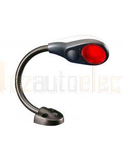 """Hella Marine 2JA343720-042 Red LED Flexi Chart Table Lamp - 9-31V DC, 6"""" / 150mm Shaft Length (White Cover)"""