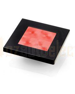 Hella Marine 2XT980588-241 Red LED Square Courtesy Lamp - 24V DC, Black Plastic Rim