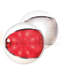 Hella Marine 2JA959950-121 Red / White EuroLED Touch Lamps - White Shroud