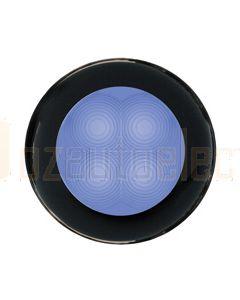 Hella Round LED Courtesy Lamp - Blue, 12V DC (98050221)