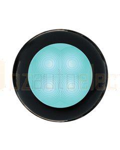 Hella Round LED Courtesy Lamp - Cyan, 12V DC (98050241)