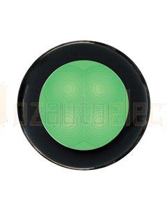 Hella Round LED Courtesy Lamp - Green, 12V DC (98050201)