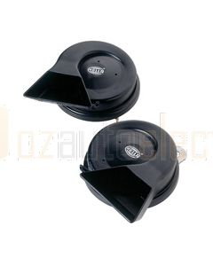 Hella Scroll Horn - Twin Tone, 12V DC (Set of 2) (6005)