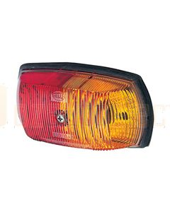 Hella Side Marker Lamp - Red / Amber, 12V (2029)