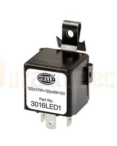 Hella Solid State Electronic Flasher Unit - 3 Pin, 12V DC (3016LED1)