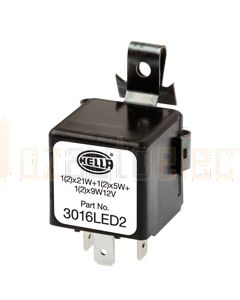 Hella Solid State Electronic Flasher Unit - 3 Pin, 12V DC (3016LED2)