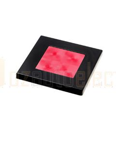 Hella Square LED Courtesy Lamp - Deep Red, 24V DC (98058841)