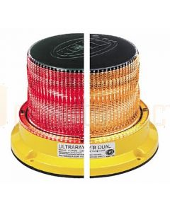 Hella Mining HM450ARDIR UltraRAY-R Dual Color LED Warning Beacon - Amber / Red Direct Mount