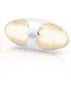 Hella Marine 2JA959700-701 Warm White LED DuraLED 12 Lamps - Single Blister Pack, White Shroud