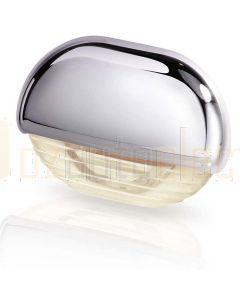 Hella Marine 2JA998560-401 Warm White LED Easy Fit Step Lamp - 12-24V DC, Chrome Plated Cap