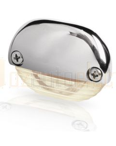 Hella Marine 2JA998560-451 Warm White LED Easy Fit Step Lamp - 12-24V DC, Polished Stainless Steel Cap