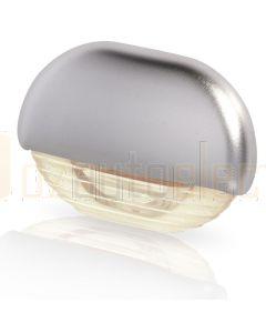 Hella Marine 2JA998560-441 Warm White LED Easy Fit Step Lamp - 12-24V DC, Satin Chrome Plated Cap