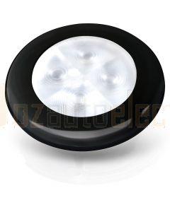 Hella 2XT980501751 24V Warm White LED 'Enhanced Brightness' Round Courtesy Lamps with Black Plastic Rim