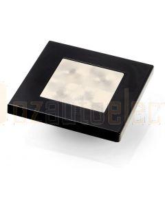 Hella Marine 2XT980580-741 Warm White LED 'Enhanced Brightness' Square Courtesy Lamp - 12V DC, Black Plastic Rim