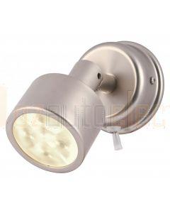 Hella Marine 2JA980771-211 Warm White LED Ponui Reading Lamps - 12V, Satin Chrome Finish