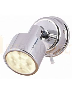 Hella Marine 2JA980771-301 Warm White LED Ponui Reading Lamps - 24V, Bright Chrome Finish