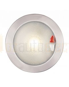 Hella Marine 2JA980630-111 Warm White / Red Recessed EuroLED 150 Touch Lamp - 9-33V DC Polished Stainless Steel Rim