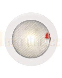 Hella Marine 2JA980630-101 Warm White / Red Recessed EuroLED 150 Touch Lamp - 9-33V DC White Plastic Rim